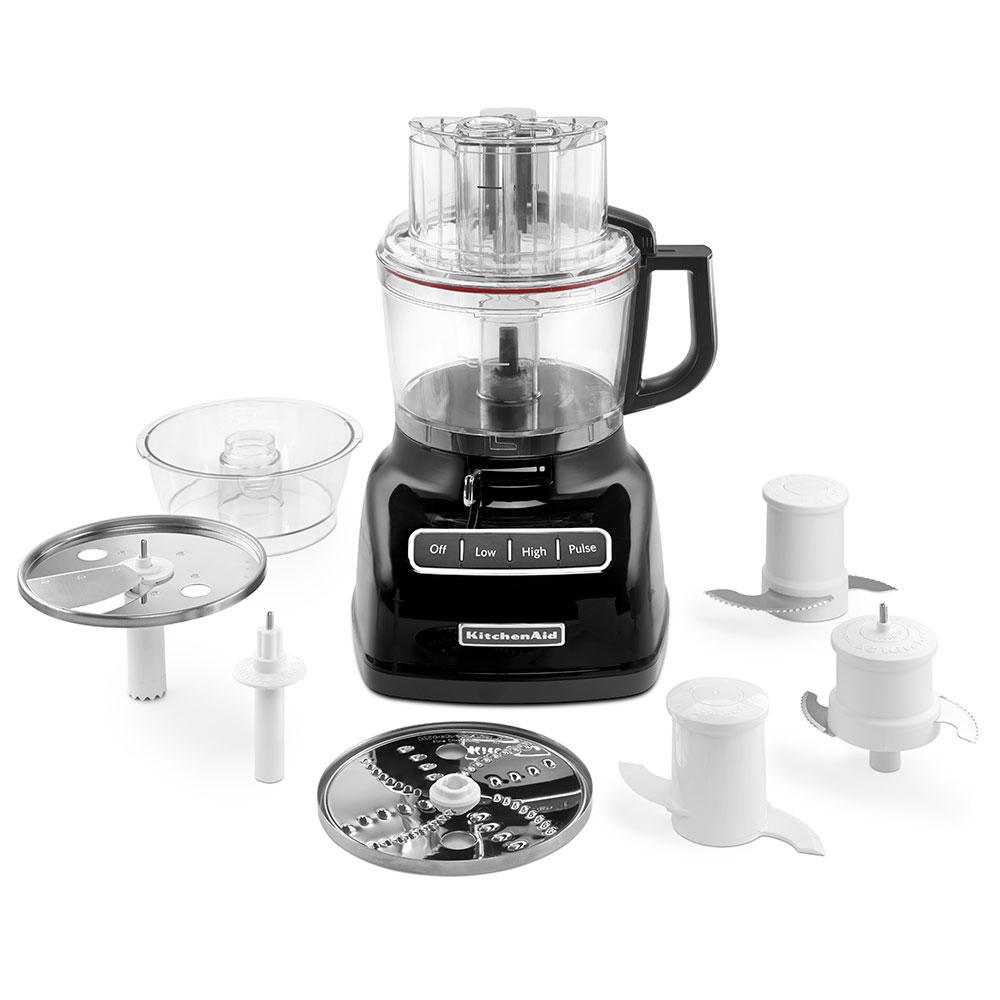 KitchenAid KFP0933OB 3-Speed Food Processor w/ 9-Cup Capacity, Onyx Black