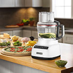 KitchenAid KFP0933WH 3-Speed Food Processor w/ 9-Cup Capacity, White