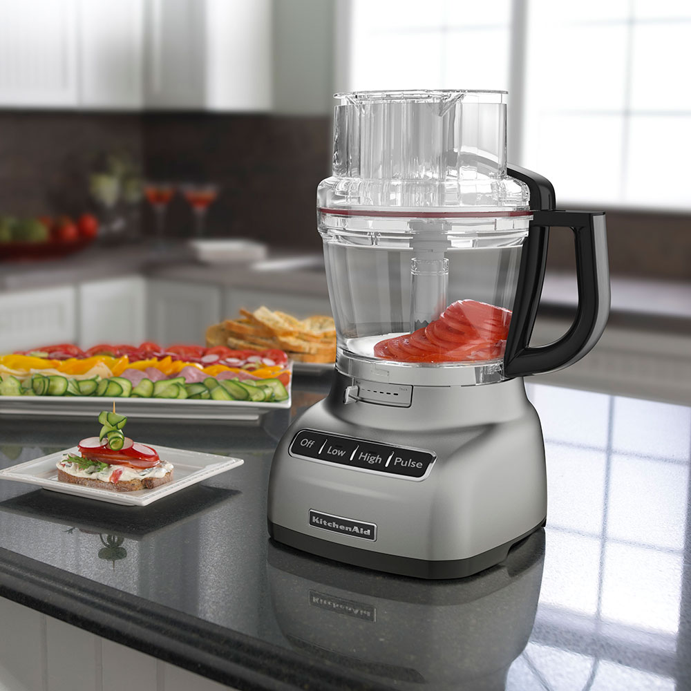 KitchenAid KFP1333CU 13-Cup Food Processor - BPA-Free Work Bowl, Contour Silver