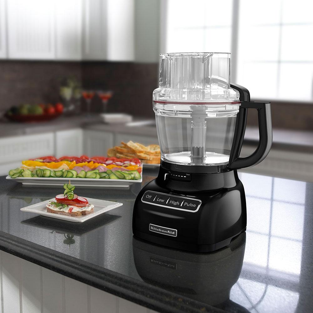 KitchenAid KFP1333OB 13-Cup Food Processor w/ BPA-Free Work Bowl, Onyx Black