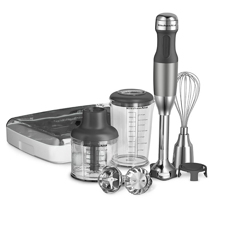 Kitchenaid KHB2561OB 5-Speed Hand Blender w/ 5-Attachments, Onyx Black