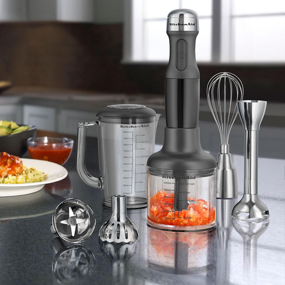 KitchenAid KHB2561OB 5-Speed Hand Blender w/ 5-Attachments, Onyx Black