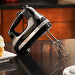 KitchenAid KHM512OB 5-Speed Hand Mixer w/ 2-Stainless Turbo Beater Accessories, Onyx Black
