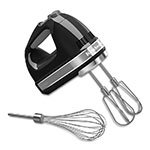 KitchenAid KHM7210OB 7-Speed Hand Mixer w/ Turbo Beater Accessories & Pro Whisk, Onyx Black