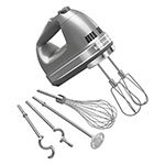 KitchenAid KHM926CU 9-Speed Hand Mixer w/ Exclusive Accessory Pack, Contour Silver