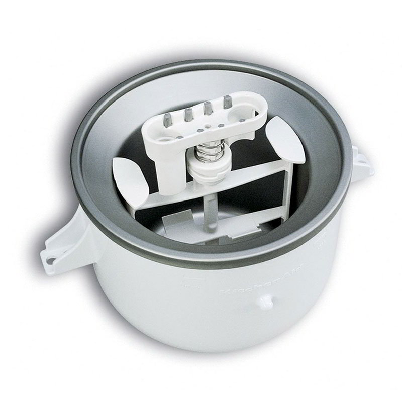Kitchenaid KICA0WH Ice Cream Maker Attachment for Most KitchenAid Models, White