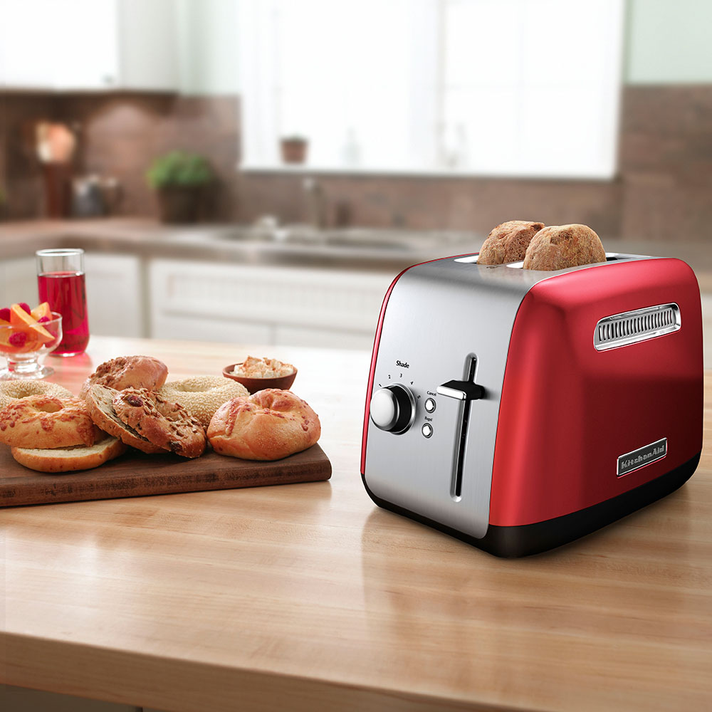 KitchenAid KMT2115ER 2-Slice Toaster - Manual High-Lift Lever, Crumb Tray, Red
