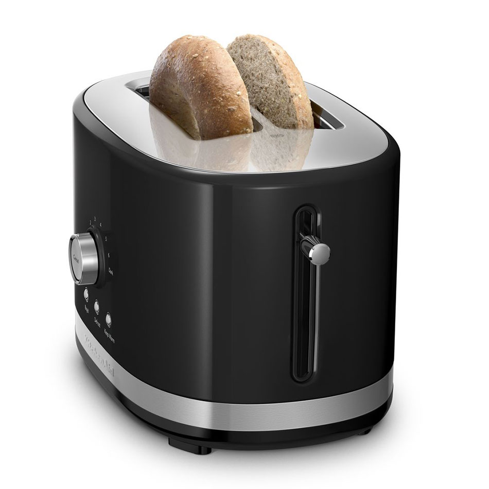 KitchenAid KMT2116OB 2-Slice Toaster w/ Manual High-Lift Lever, Onyx Black