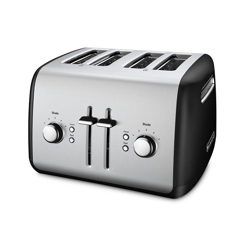 KitchenAid KMT4115OB 4-Slice Toaster w/ Manual High-Lift Lever, Onyx Black
