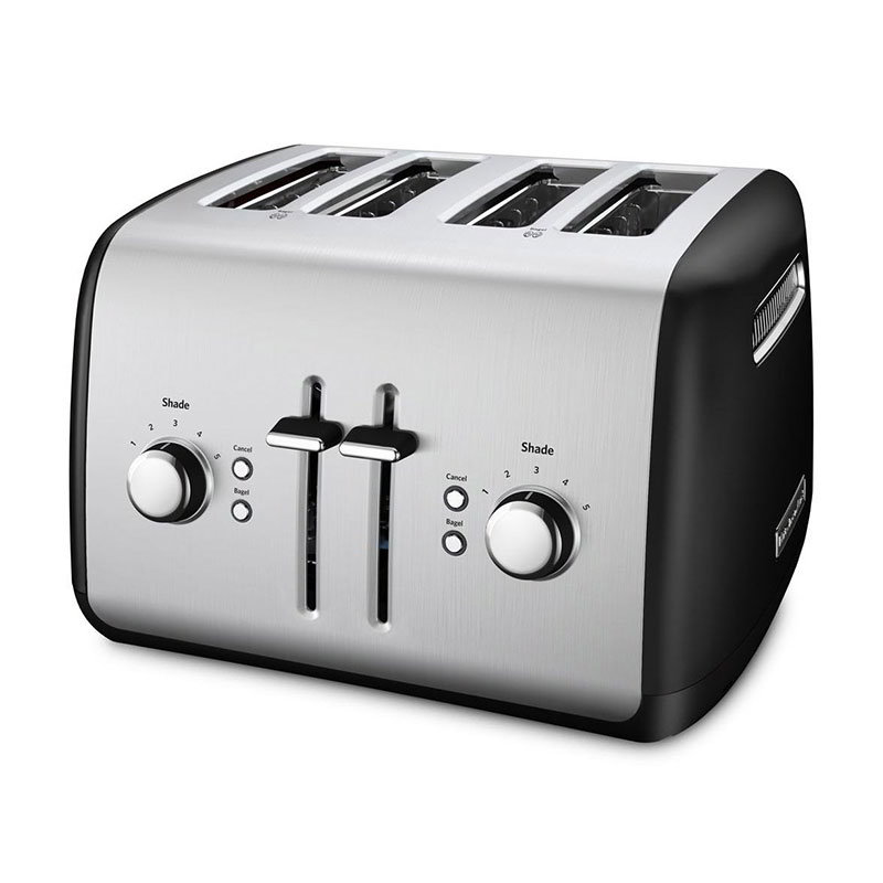 KitchenAid KMT4115OB 4-Slice Toaster w/ Bagel Button, Onyx Black