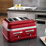 KitchenAid KMT4203CA Pro Line 4-Slice Automatic Toaster - Candy Apple Red