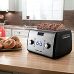 KitchenAid KMT423OB 4-Slice Toaster w/ Digital Lift, Defrost & Reheat, Onyx Black