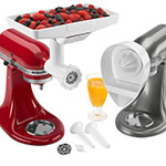 KitchenAid KN12AP Mixer Attachment Pack - Citrus Juicer, Food Tray, Food Grinder & Sausage Stuffer