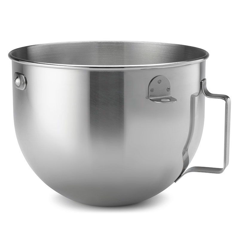 KitchenAid KN25WPBH Stainless Steel Mixing Bowl w/ Handle for 5-qt KV25G Mixer