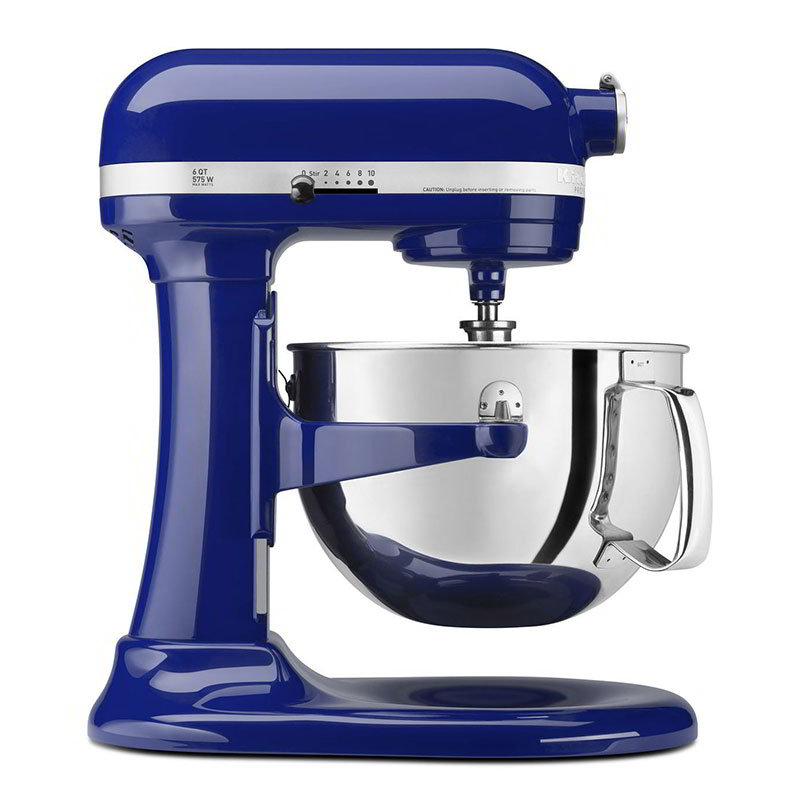 KitchenAid KP26M1XBU 10-Speed Stand Mixer w/ 6-qt Stainless Bowl & Accessories, Cobalt Blue