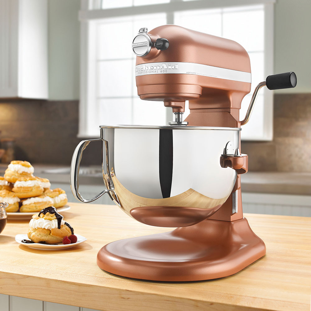 KitchenAid KP26M1XCE Professional 600 Series Mixer With Pouring Shield, 6 Qt, Copper Pearl