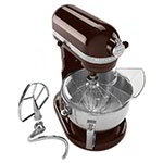 KitchenAid KP26M1XES 10-Speed Stand Mixer w/ 6-qt Stainless Bowl & Accessories, Espresso