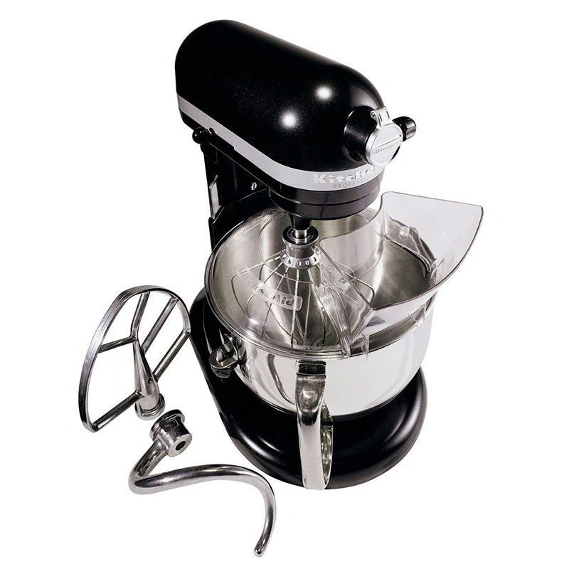KitchenAid KP26M1XLC 10-Speed Stand Mixer w/ 6-qt Stainless Bowl & Accessories, Licorice Black