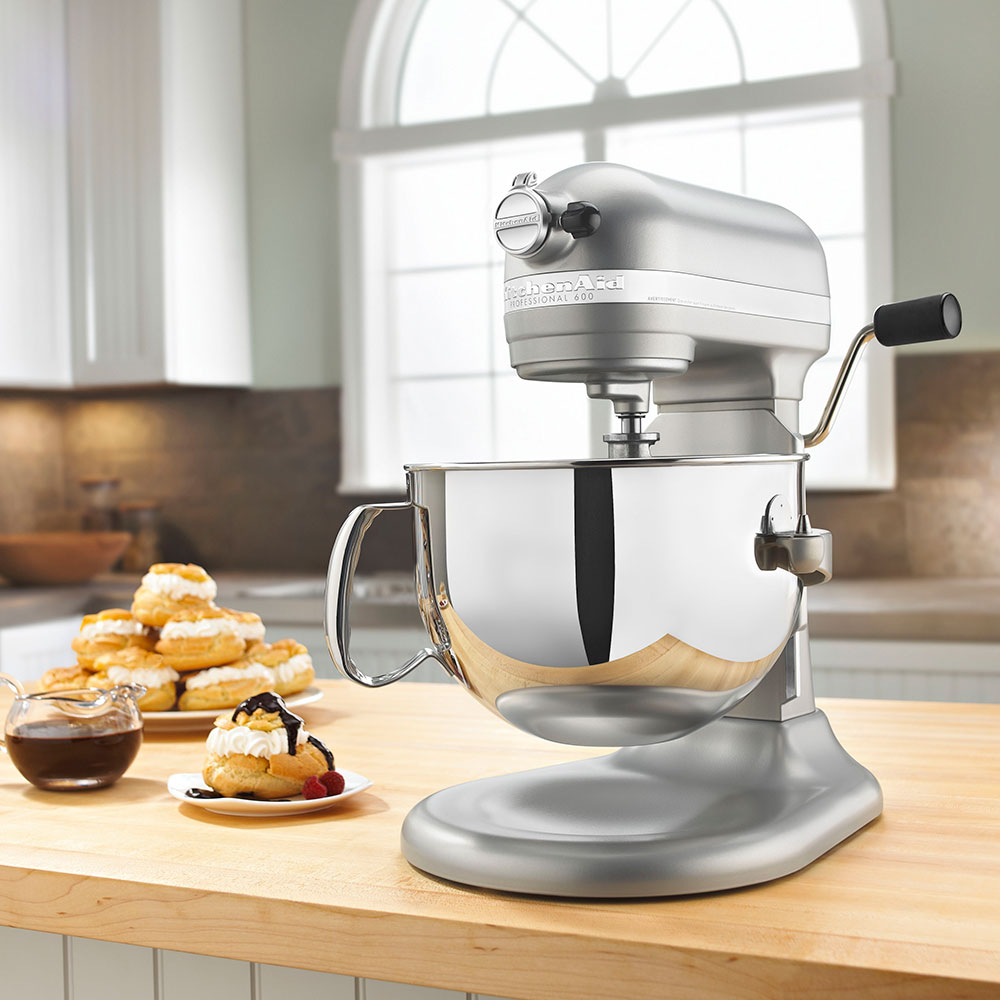 KitchenAid KP26M1XNP 10-Speed Stand Mixer w/ 6-qt Stainless Bowl & Accessories, Nickel Pearl