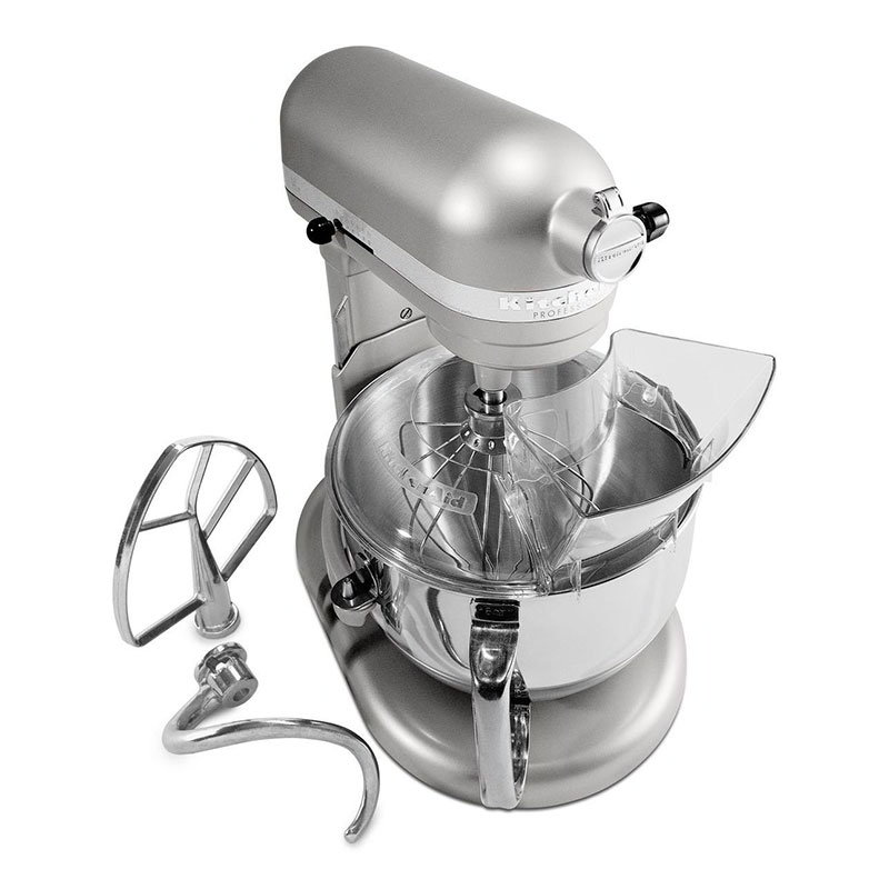 KitchenAid KP26M1XNP Professional 600 Series Mixer With Pouring Shield, 6 Qt, Nickel Pearl