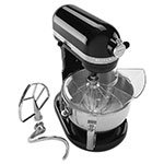 Kitchenaid KP26M1XOB Professional 600 Series Mixer - 6-qt Capacity, Pouring Shield, Onyx Black