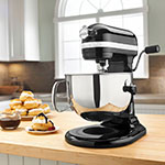KitchenAid KP26M1XOB 10-Speed Stand Mixer w/ 6-qt Stainless Bowl & Accessories, Onyx Black