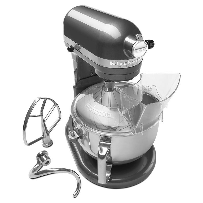 Kitchenaid KP26M1XPM Mixer w/ Pouring Shield, 6-Quart, Pearl Metallic