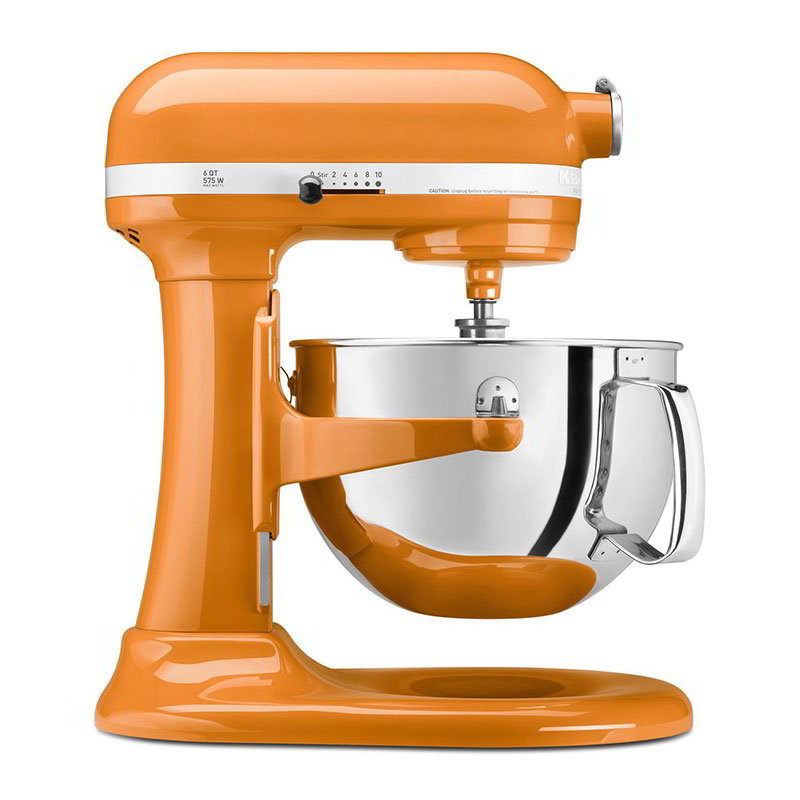 Kitchenaid KP26M1XTG Professional 600 Series Mixer With Pouring Shield, 6 Qt, Tangerine