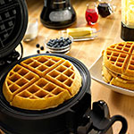 KitchenAid KPWB100OB Pro Line Series Belgian Waffle Baker, Bakes 2, Digital, Non-Stick, Black