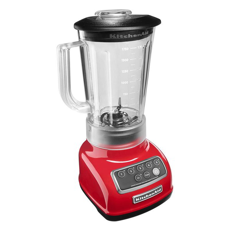 KitchenAid KSB1570 56-oz 5-Speed Countertop Blender - Control Panel w/LED Lights, Empire Red