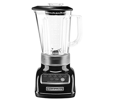 KitchenAid KSB1570 5-Speed Countertop Blender w/ 56-oz Pitcher, Onyx Black