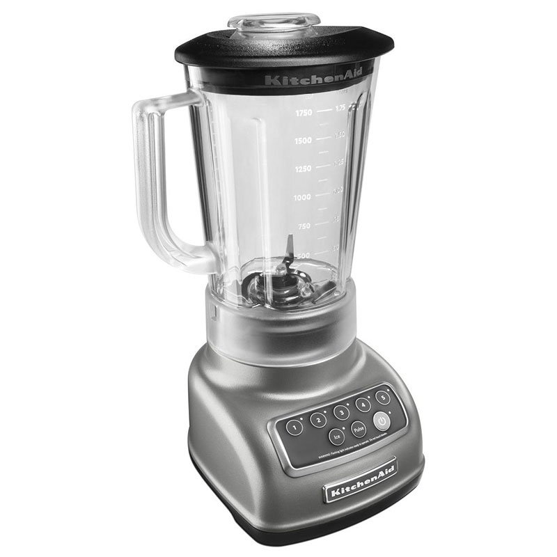 KitchenAid KSB1570 56-oz 5-Speed Countertop Blender - Control Panel w/LED Lights, Silver