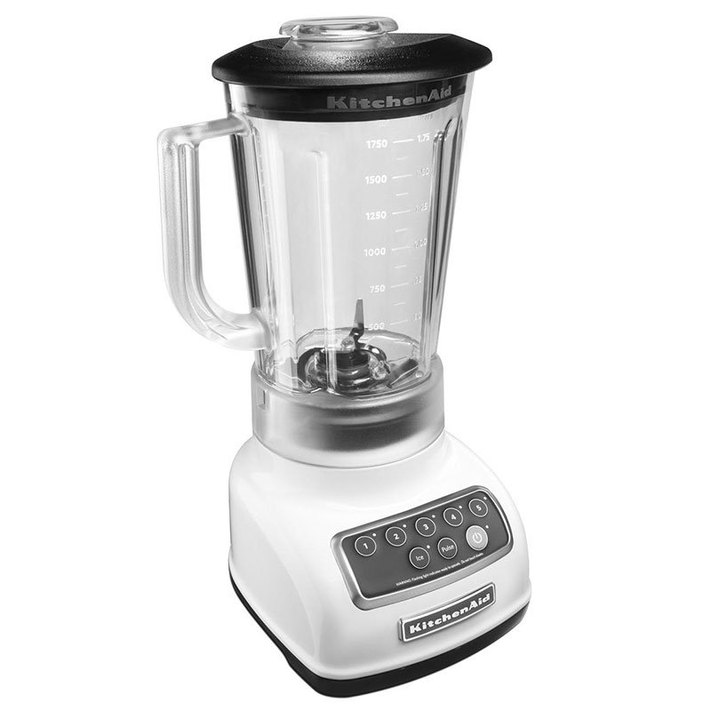 KitchenAid KSB1570 5-Speed Countertop Blender w/ 56-oz Pitcher, White