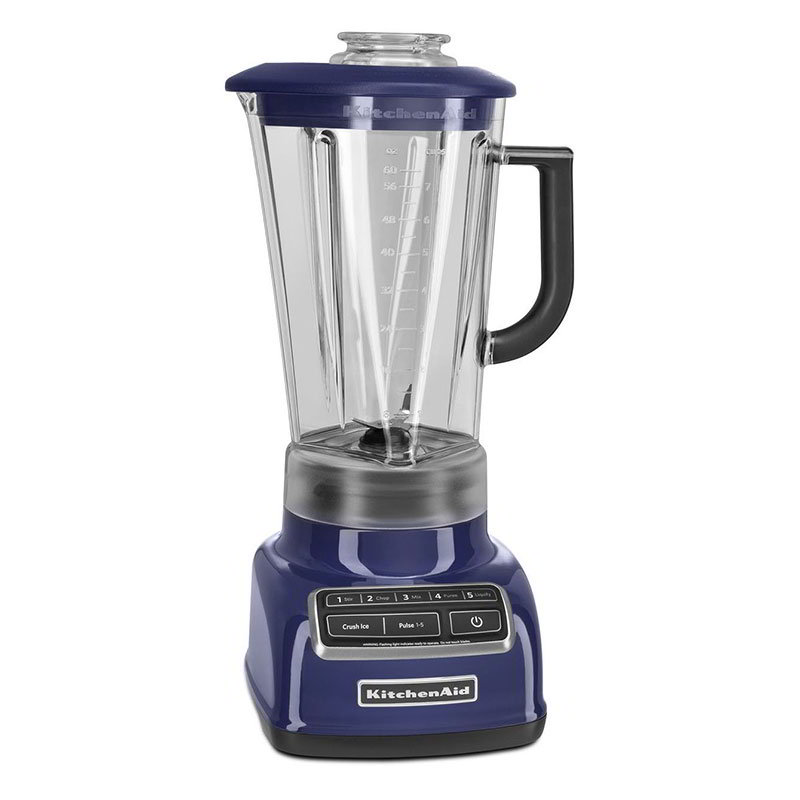Kitchenaid KSB1575BU 5-Speed Blender w/ 60-oz Pitcher & Reinforced Coupler, Cobalt Blue