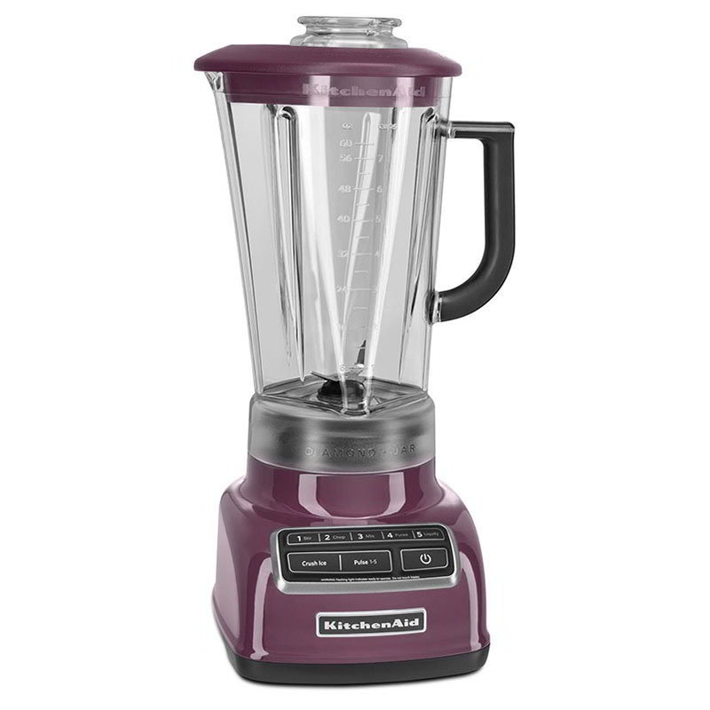 KitchenAid KSB1575BY 5-Speed Blender w/ 60-oz Pitcher & Reinforced Coupler, Boysenberry