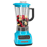 KitchenAid KSB1575CL 5-Speed Countertop Blender w/ 60-oz Pitcher, Crystal Blue