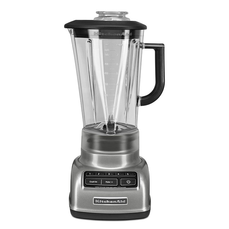 KitchenAid KSB1575CU 5-Speed Blender w/ 60-oz Pitcher & Reinforced Coupler, Contour Silver