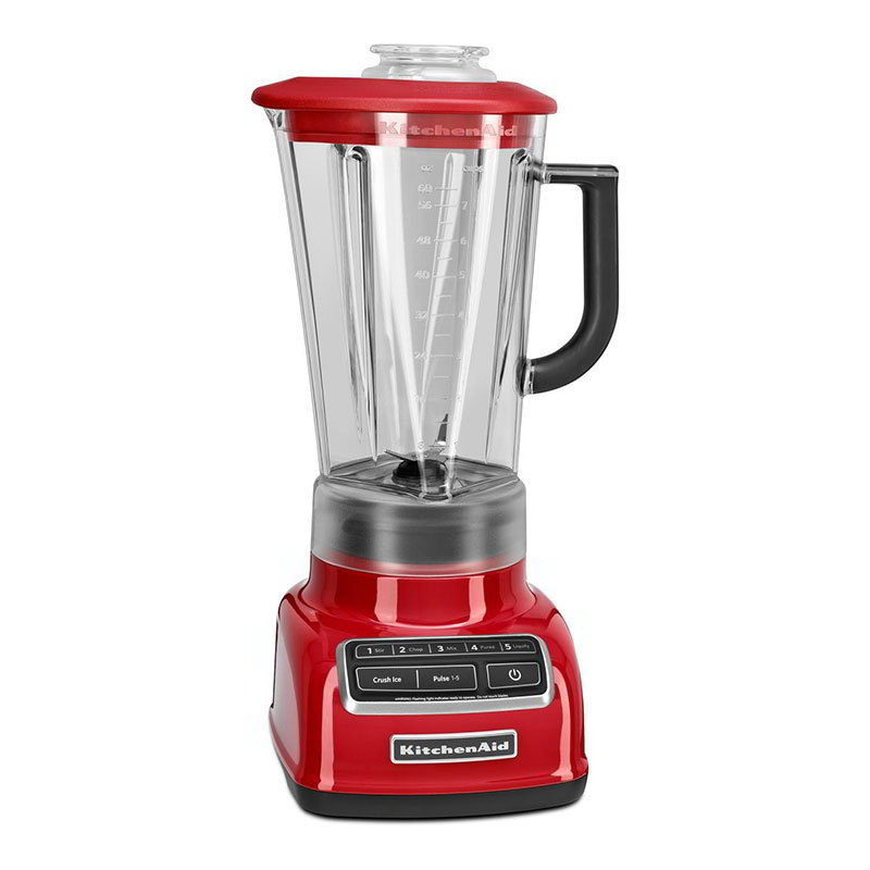 KitchenAid KSB1575ER 5-Speed Blender w/ 60-oz Pitcher & Reinforced Coupler, Empire Red