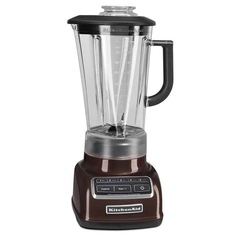 KitchenAid KSB1575ES 5-Speed Countertop Blender w/ 60-oz Pitcher, Espresso