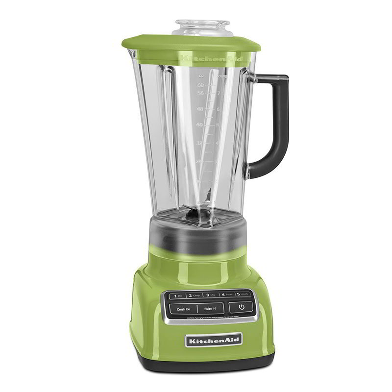 KitchenAid KSB1575GA 5-Speed Countertop Blender w/ 60-oz Pitcher, Green Apple