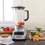 KitchenAid KSB1575MC 5-Speed Countertop Blender w/ 60-oz Pitcher, Metallic Chrome