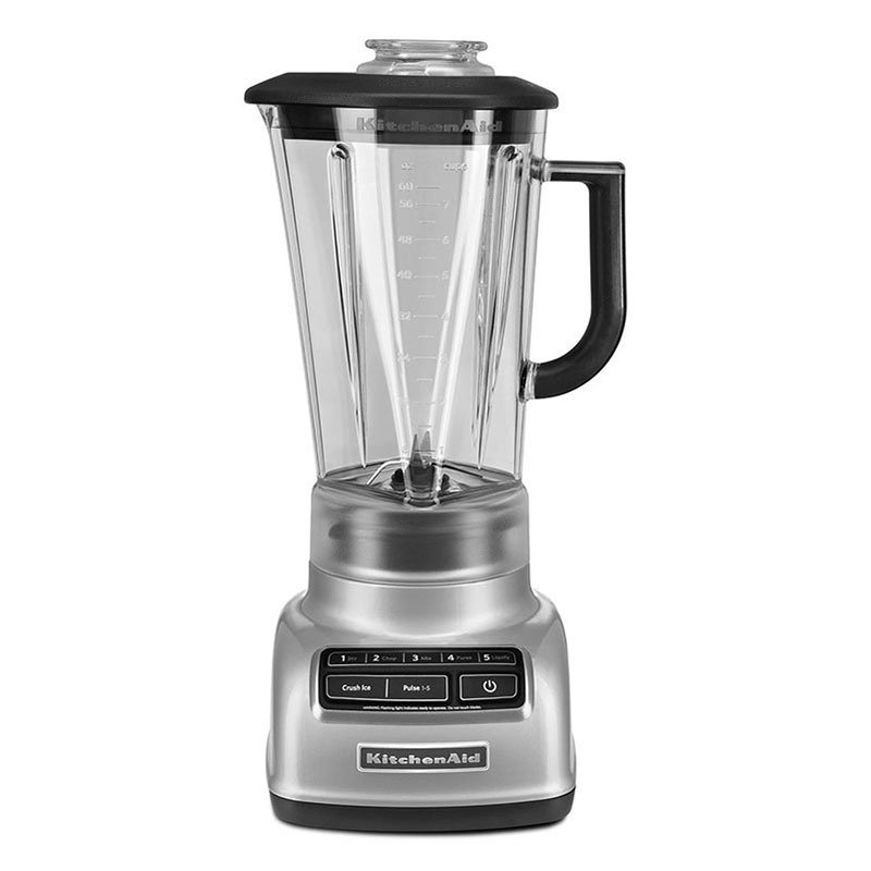Kitchenaid KSB1575MC 5-Speed Blender w/ 60-oz Pitcher & Reinforced Coupler, Metallic Chrome