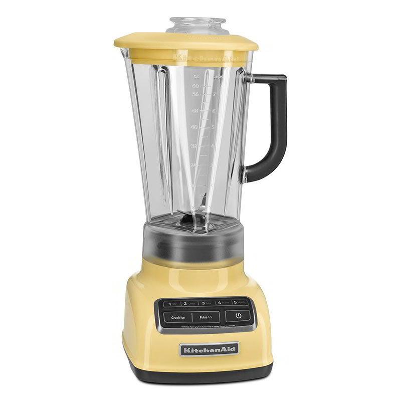 KitchenAid KSB1575MY 5-Speed Blender w/ 60-oz Pitcher & Reinforced Coupler, Majestic Yellow