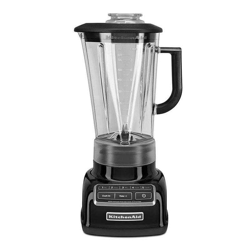 KitchenAid KSB1575OB 5-Speed Countertop Blender w/ 60-oz Pitcher, Onyx Black