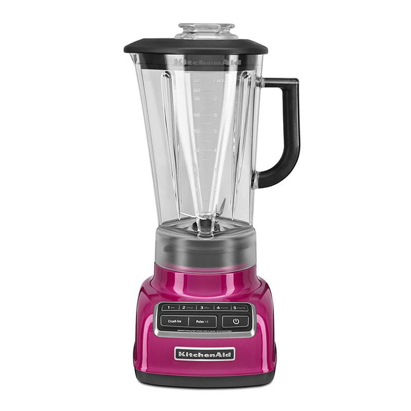 KitchenAid KSB1575RI 5-Speed Countertop Blender w/ 60-oz Pitcher, Raspberry Ice