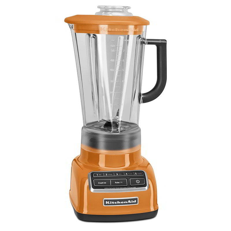 Kitchenaid KSB1575TG 5-Speed Blender w/ 60-oz Pitcher & Reinforced Coupler, Tangerine