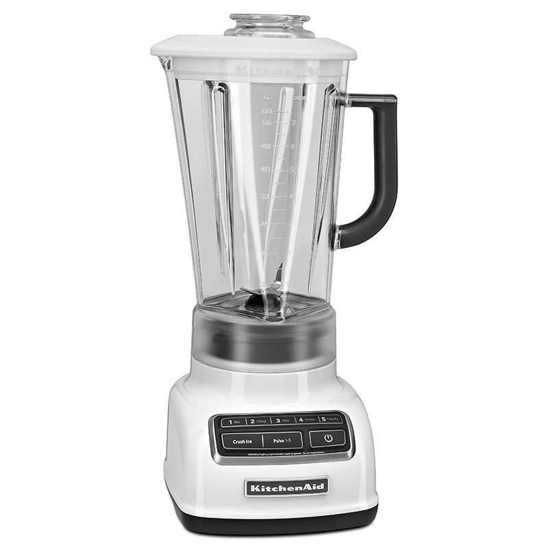 Kitchenaid KSB1575WH 5-Speed Blender w/ 60-oz Pitcher & Reinforced Coupler, White