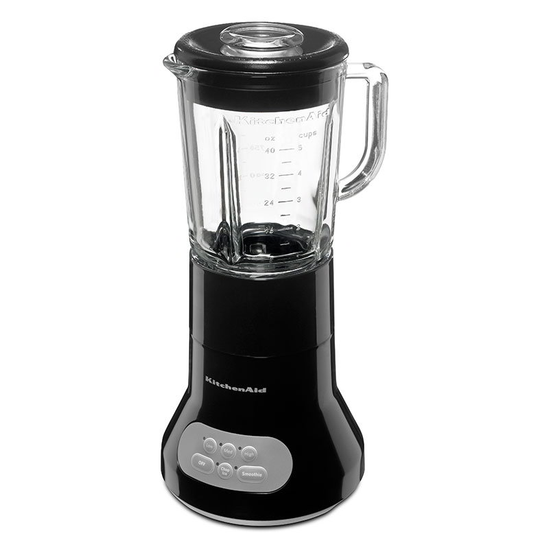 KitchenAid KSB354OB 3 Speed Blender, 40 oz Glass Pitcher, Stainless Blades, Onyx Black