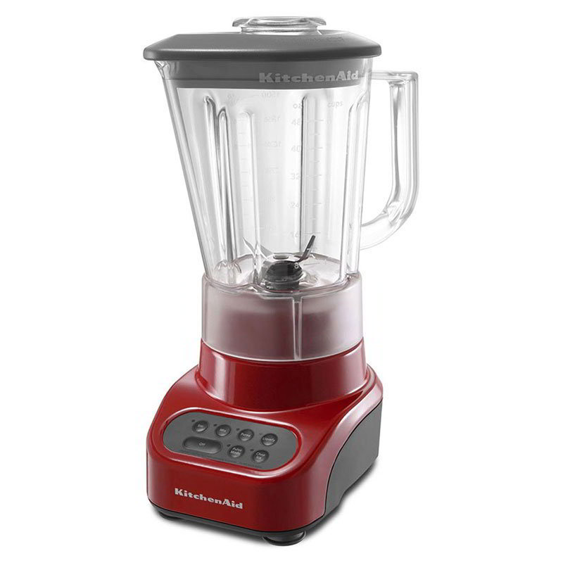KitchenAid KSB465ER 4 Speed Blender, 48 oz Glass Pitcher, Stainless Blades, Empire Red