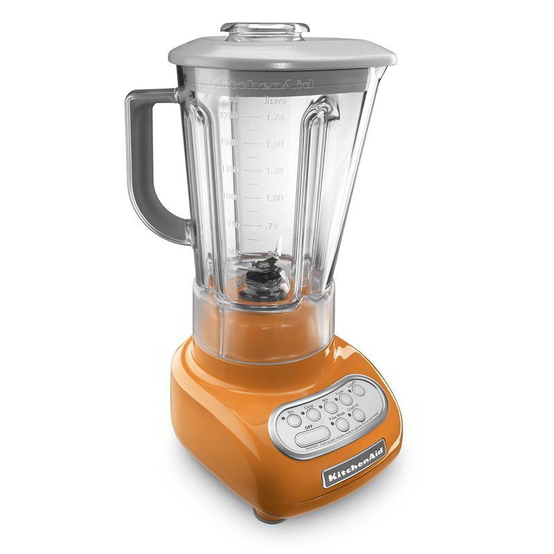 KitchenAid KSB560TG Blender w/ Touch Pad, 56-oz Pitcher & 5-Speeds, Tangerine